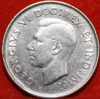 1941 Canada Silver 50 Cents Foreign Coin S/h photo
