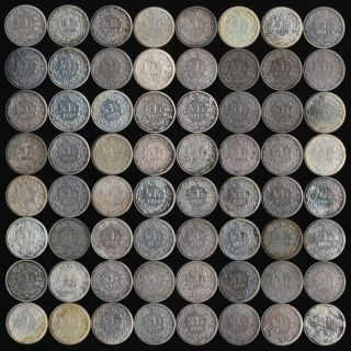 (1881 - 1967) 64 Silver Swiss 1/2 Francs Many Dates See Pictures photo