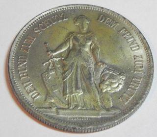 1885 Bern Switzerland 5 Fr Francs Silver Au Coin Swiss photo