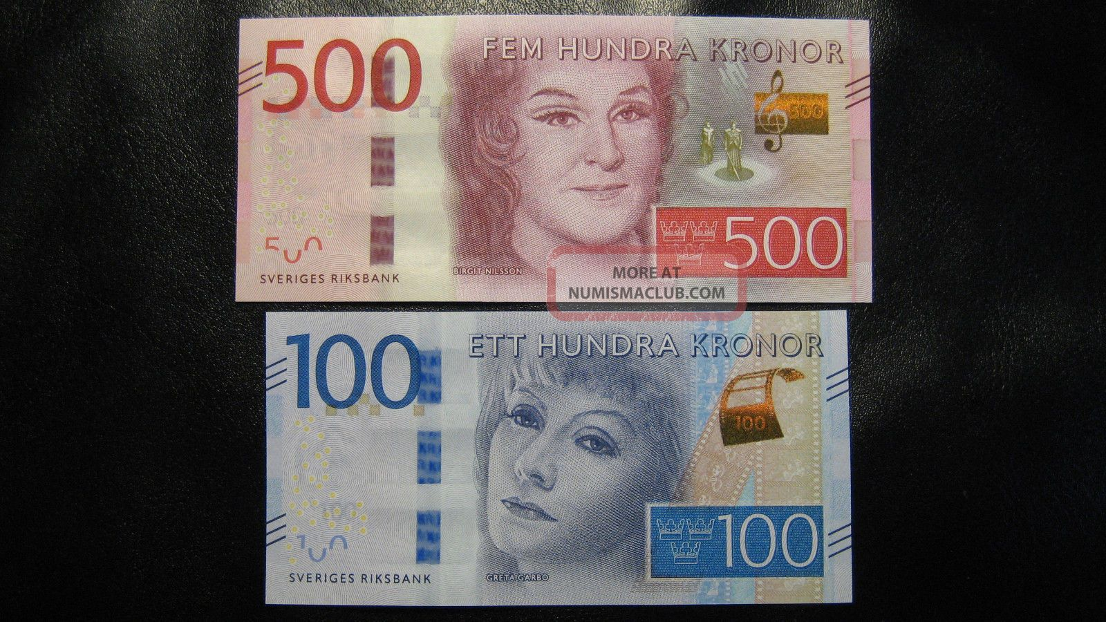 Sweden 100 And 500 Kronor 2016 Unc Europe photo