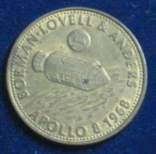 Apollo 8 [1968] Borman,  Lovell,  & Anders Shell Oil Comemmorative Token 1