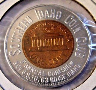 Gem Bu 1963 Lincoln Cent By Earl Fankhauser Southern Idaho Coin Show In Boise photo