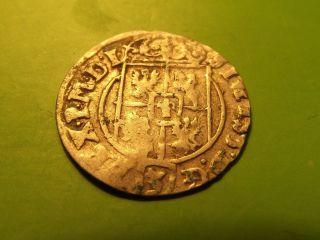 Lithuania Poland Rare 1625 Medival Silver 1/24 Thaler Sigismund Iii Coin Km 11 photo