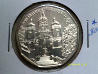 Austria 5 Euros Silver Coin.  800 2007 Km - ?? Unc. photo