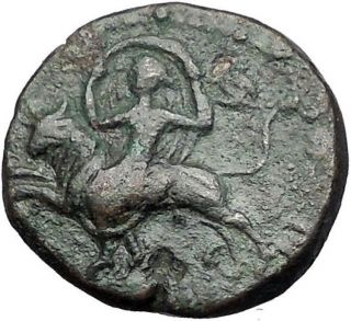 Claudius In Military Dress 41ad Amphipolis Macedonia Artemis Roman Coin I55646 photo