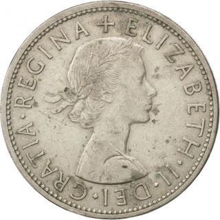 [ 43079] Grande - Bretagne,  Élisabeth Ii,  1/2 Couronne 1956,  Km 907,  Km 907 photo
