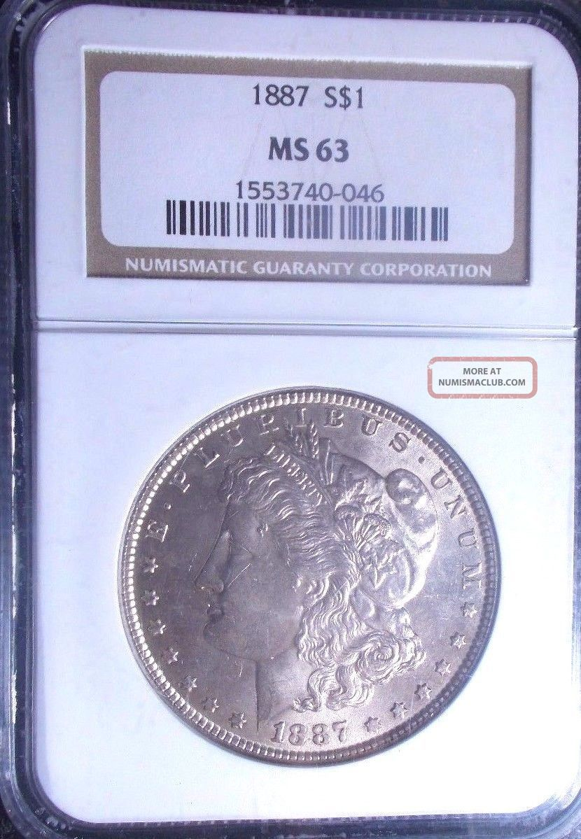 1887 - Ngc - Ms63 - Morgan Silver Dollar - Tremendous Eye Appeal - No Surface Marks - Vam - 14 Dollars photo