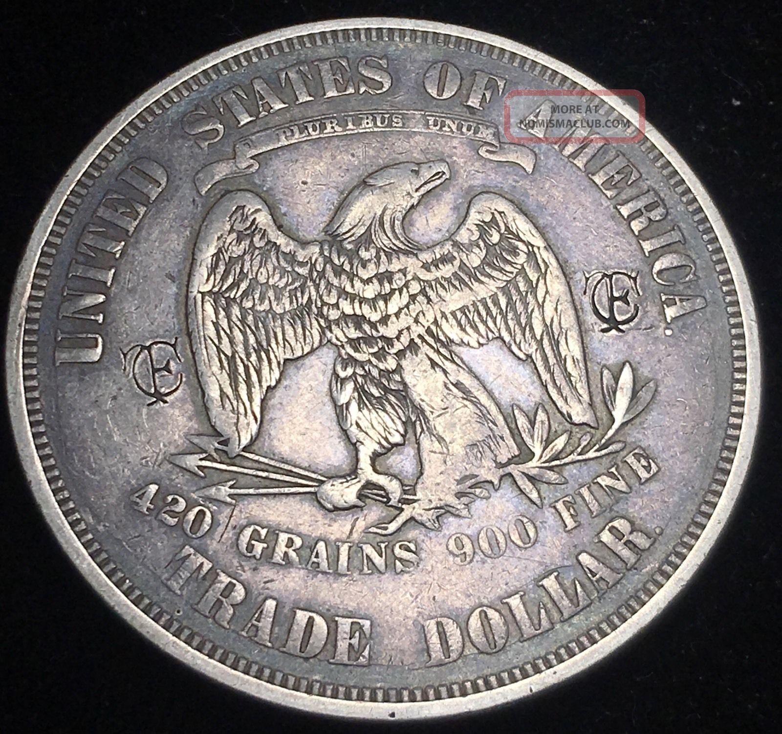 1874 Trade Dollar Silver Liberty $1 Rare U.  S Coin Dollars photo