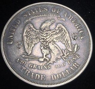 1874 Trade Dollar Silver Liberty $1 Rare U.  S Coin photo