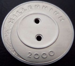 Latvia 1 Lats 1999 - 2000 Millenium Button Coin,  Proof,  Km 39 photo