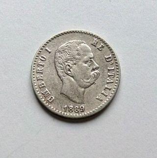 Italy: 50 Centesimi 1889 Umberto I photo