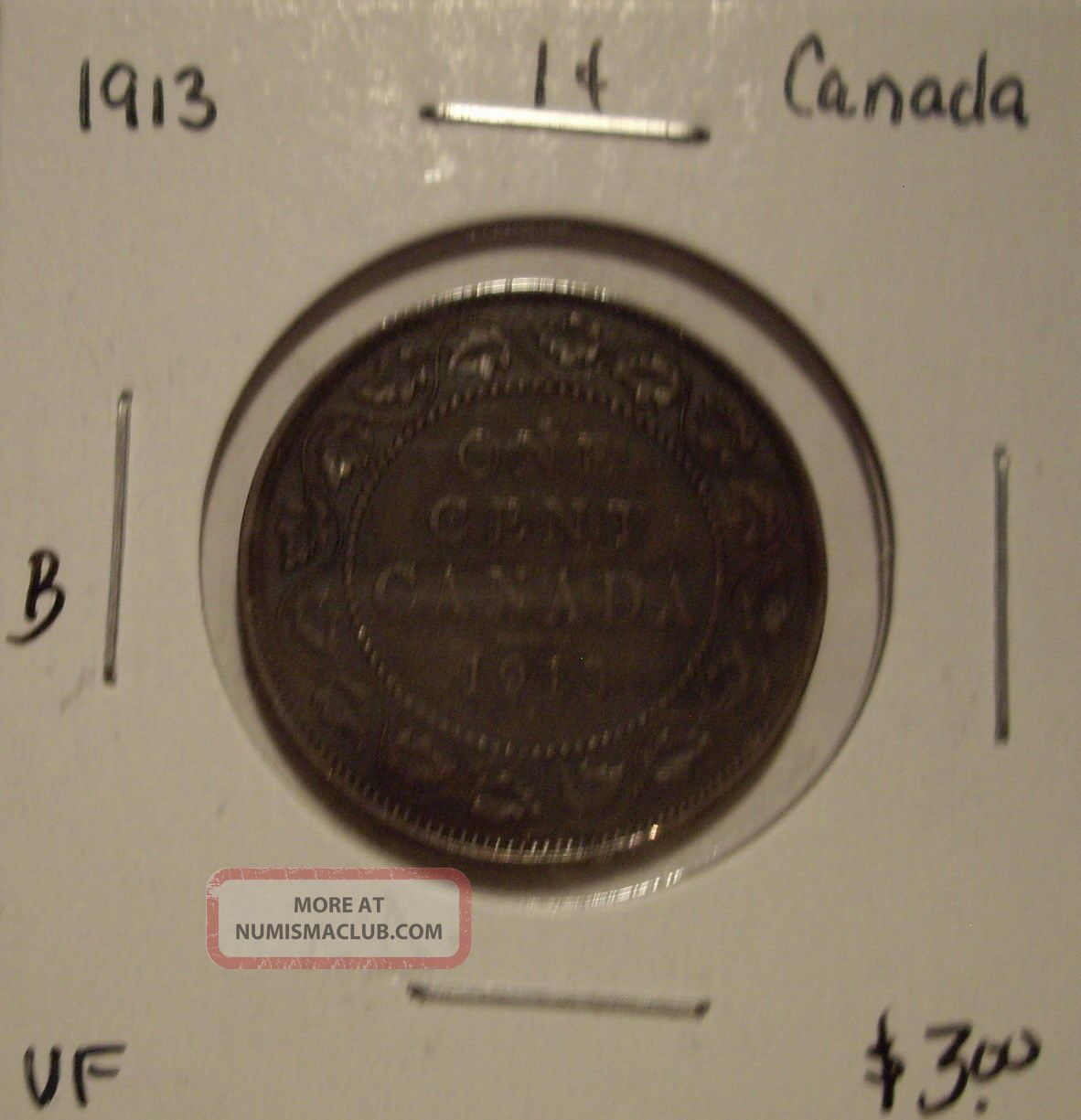 B Canada George V 1913 Large Cent - Vf Coins: Canada photo