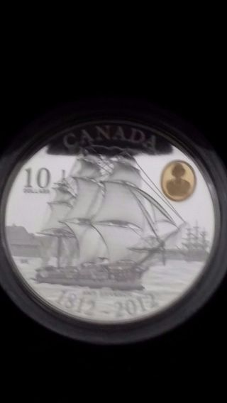 2012 $10 Canada War Of 1812 H.  M.  S.  Shannon photo