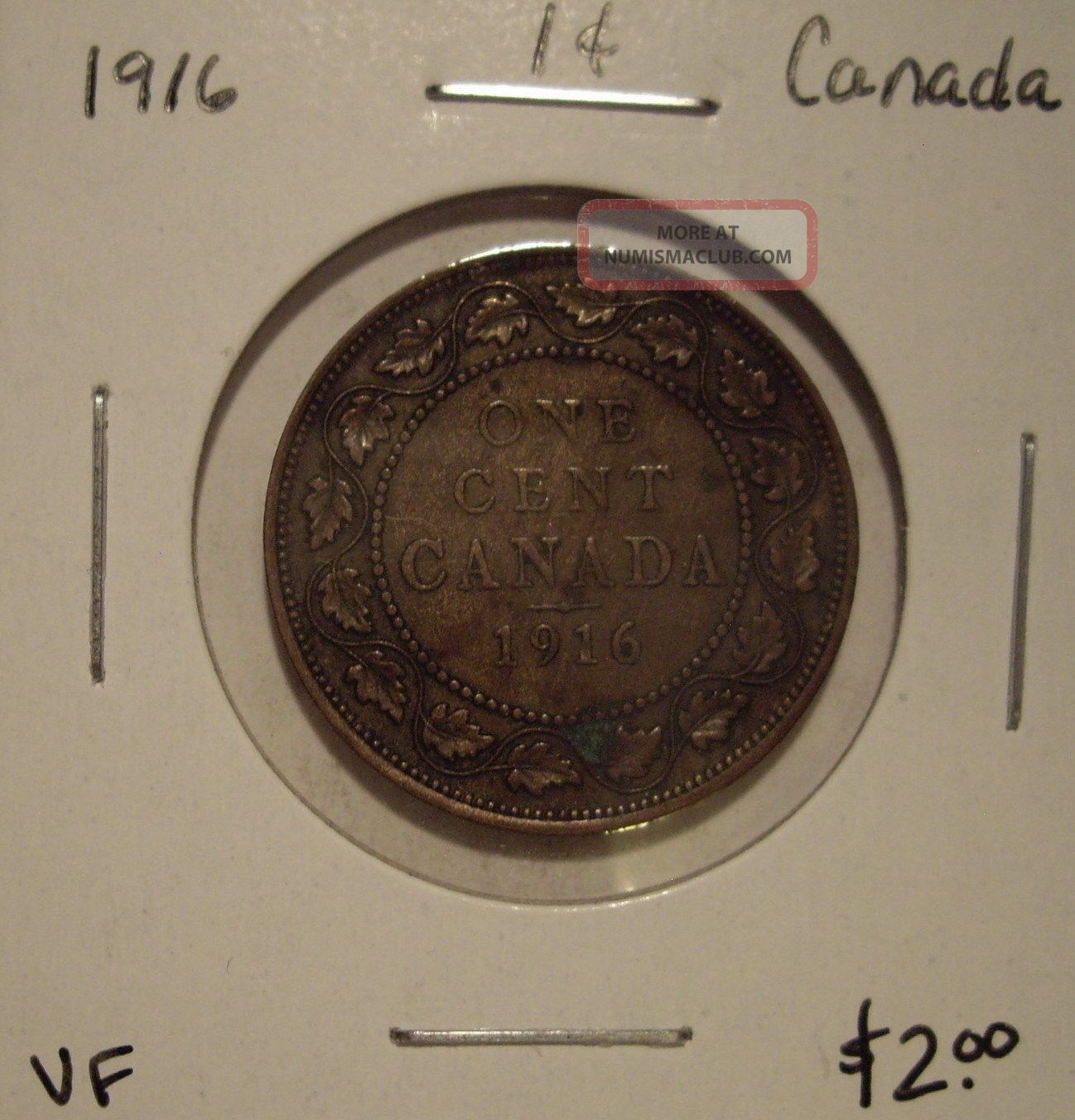 Canada George V 1916 Large Cent - Vf Coins: Canada photo
