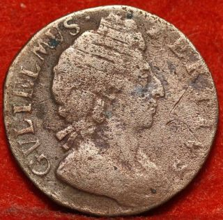 1696 Great Britain Farthing Foreign Coin S/h photo