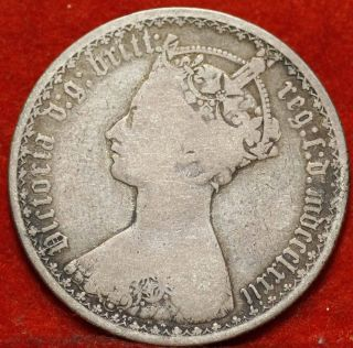 1872 Great Britain Florin Silver Foreign Coin S/h photo