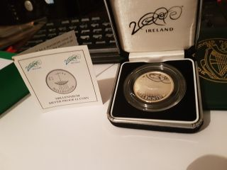 Unc Bu Silver Proof Millennium Coin Ireland Irish Central Bank Of Ireland photo