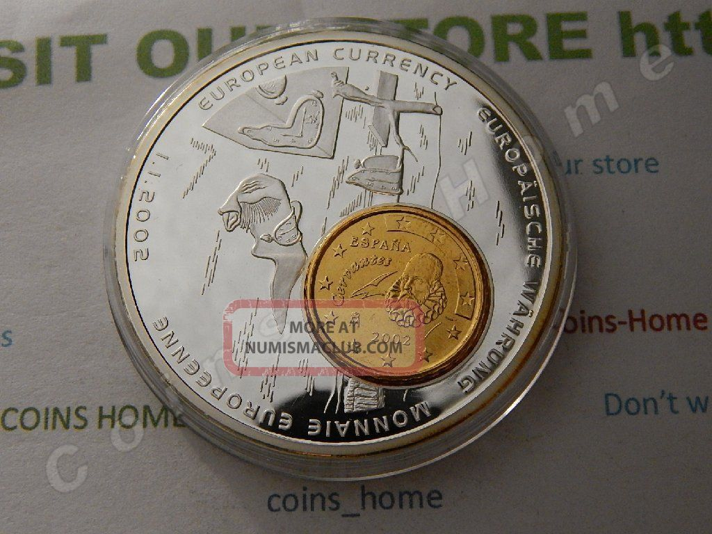 C H Proof S.  Dali Pers.  Of Mem/abduction Of Europa Silvered Token/medal Lot3134110 Exonumia photo