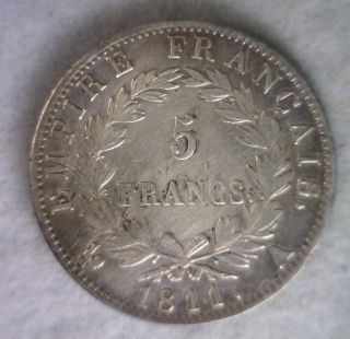 France 5 Francs 1811 A Very Fine Silver Coin (stock 0204) photo