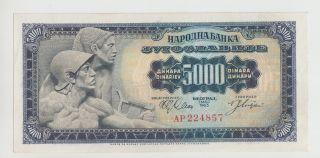 Yugoslavia 5000 Dinara 1963 Pick 76 Unc photo