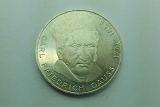 1977 German 5 Mark Carl Friedrich Gauss Silver photo