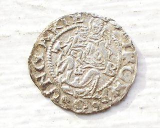 Silver Medieval 1550 - Kb Hungary Denar Ferdinand I Madonna & Child Msb 50 photo