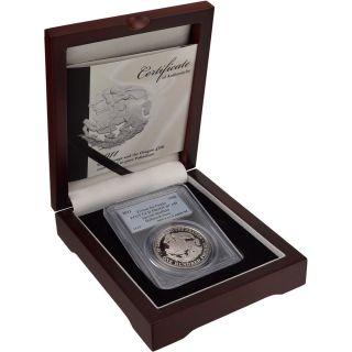 2011 Tristan Da Cunha Palladium (1 Oz) £100 St.  George & Dragon - Pcgs Gem Proof photo