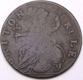 Great Britain 1/2 Penny 1791 George Gordon / Briton Rule Token - Copper - 3098 photo