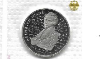 Germany 1997 G 10 Mark Silver Proof Coin Km 190 photo