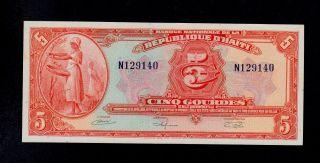 Papiergeld Welt Haiti 50 Gourdes 2008 Unc P.274 B