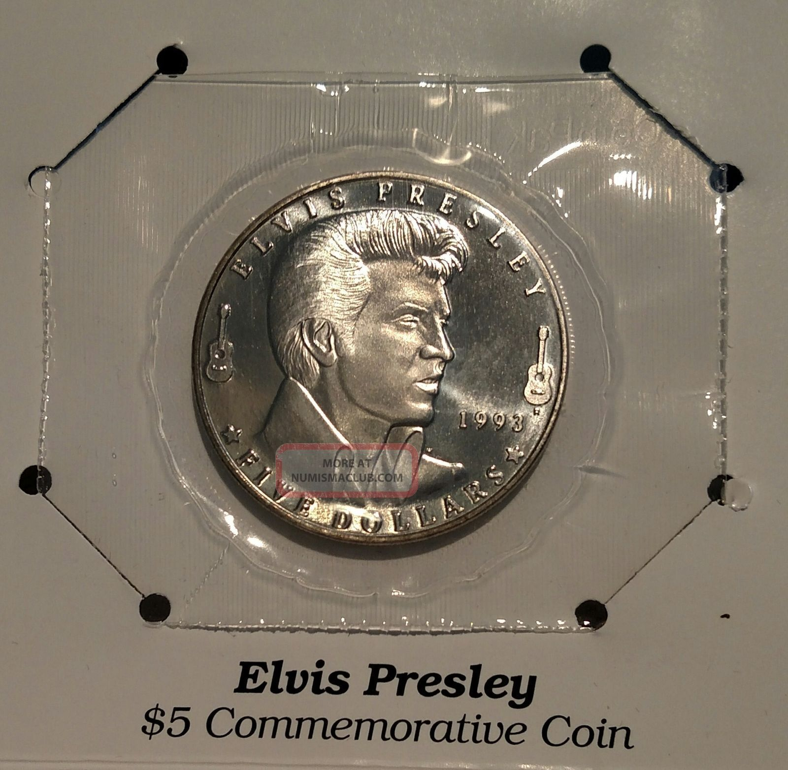 Elvis Presley 1993 $5 Commemorative Coin Coins: World photo