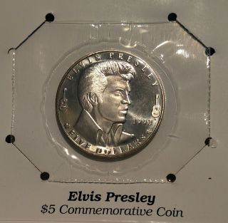 Elvis Presley 1993 $5 Commemorative Coin photo