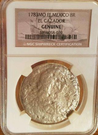 1783mo Ff Mexico 8r El Cazador Ngc Shipwreck Coin photo