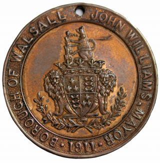 1911 George V Coronation Medal John Williams Mayor Walsall Borough Great Britain photo