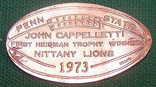 Lpe - Unb Vintage Elongated Cent John Cappelletti / First Heisman Trophy Winner photo