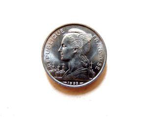 1953 Madagascar Five (5) Francs Coin photo