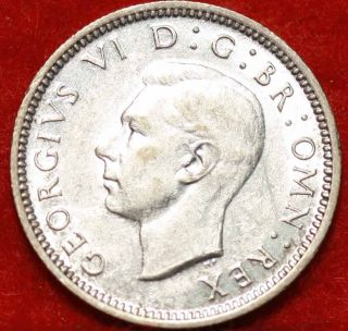 1944 Great Britain 6 Pence Silver Foreign Coin S/h photo