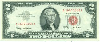 Us Federal Reserve Series 1953 A 2 Dollars.  Banknote photo