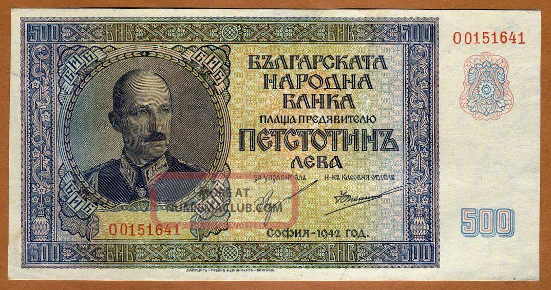 Bulgaria,  Kingdom 500 Leva,  1942,  Pick 60,  Wwii Aunc King Boris Iii Europe photo