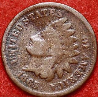 1865 Philadelphia Copper Indian Head Cent photo