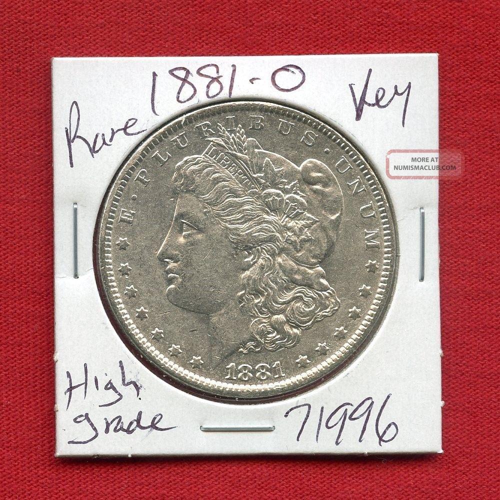 1881 O Morgan Silver Dollar 71996 Coin Us Rare Key Date Estate Dollars photo