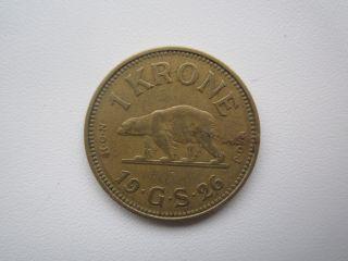 Denmark Greenland 1 Krone 1926 photo