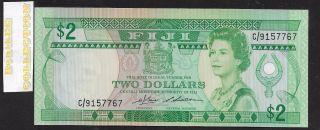 [bl] Fiji,  Nd 1983,  2 Dollars,  P82a,  Qe Ii,  Unc photo