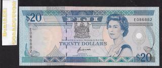[bl] Fiji,  Nd 1992,  20 Dollars,  P95a,  Qe Ii,  Unc photo