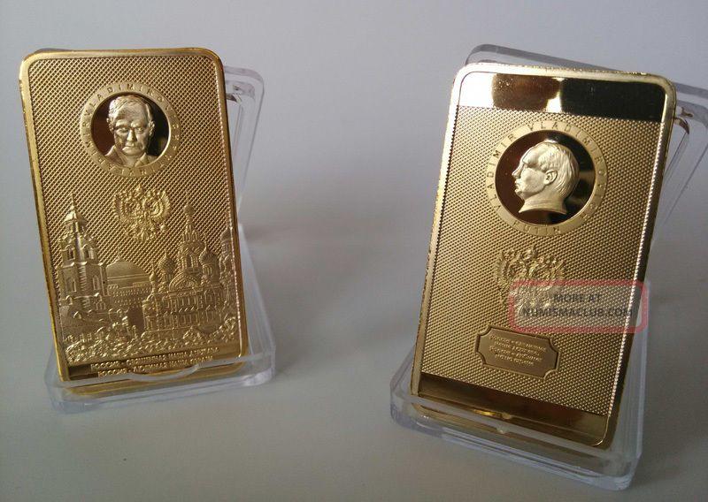 Russia President Putin Kremlin Gold Plated Coin/ Bar - Souvenir Craft 1pcs Coins: World photo