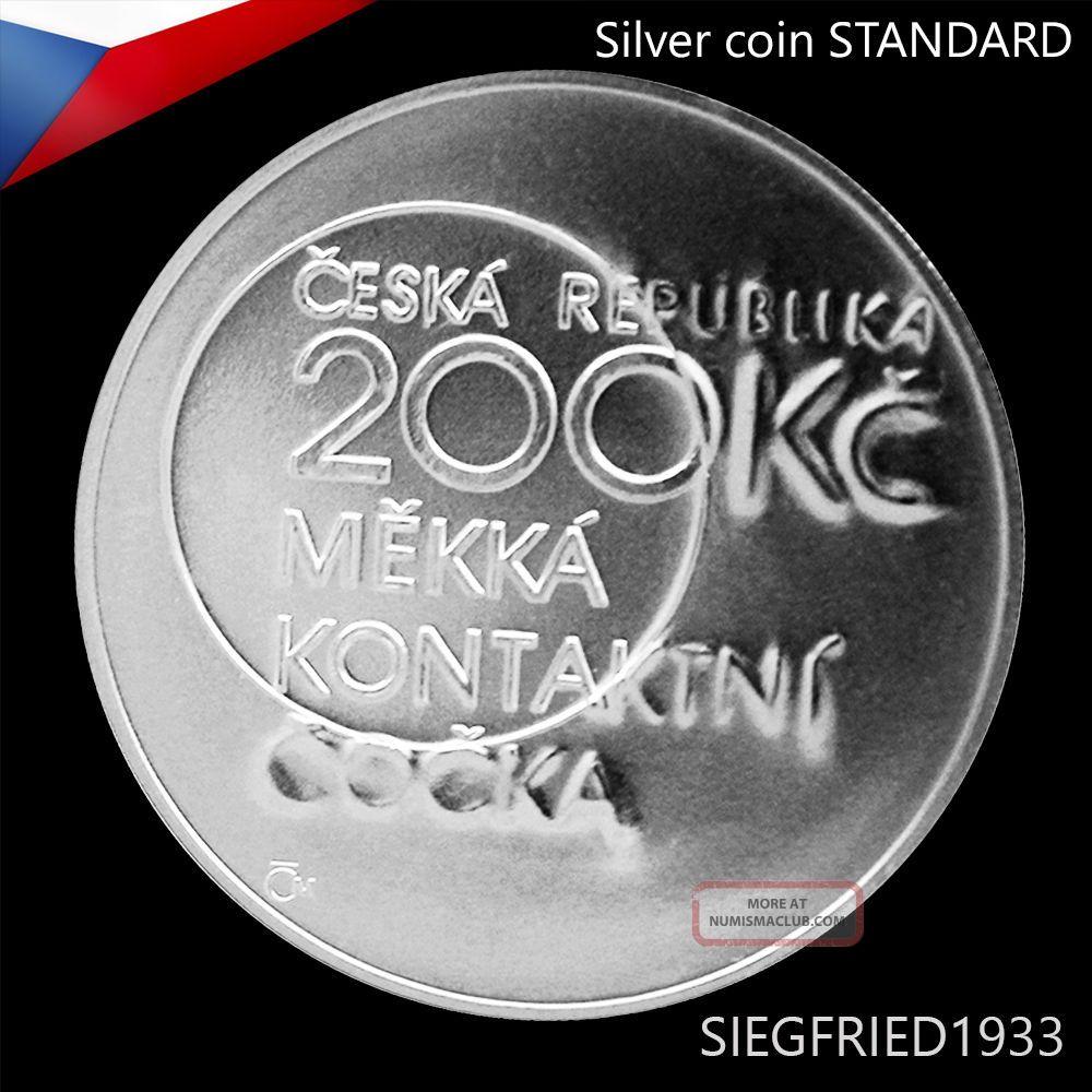 Czech Silver Coin (2013) - Chemist Otto Wichterle - 200 Czk Europe photo
