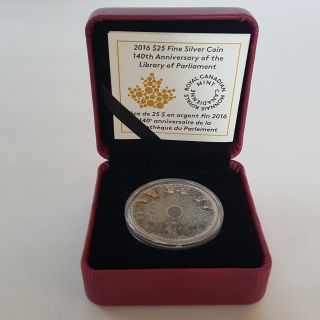 2016 $25 Fine Silver Coin – 140th Anniversary Of The Library Of Parliament photo