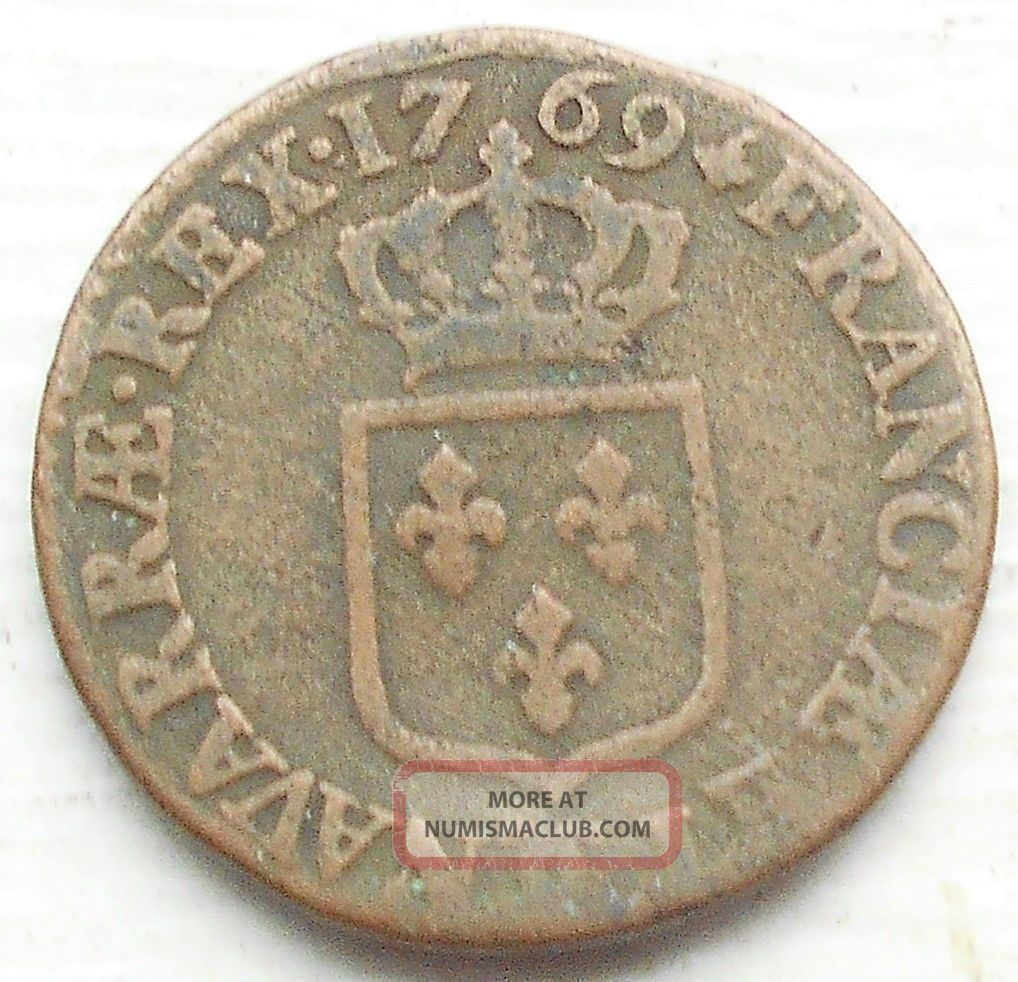 1769 ϽϹ France Sol Km 545 Louis Xv Square Arms Besançon Grade Msb119 Europe photo