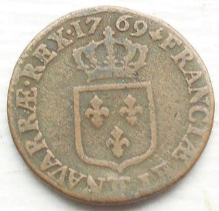 1769 ϽϹ France Sol Km 545 Louis Xv Square Arms Besançon Grade Msb119 photo
