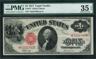 1917 $1 Legal Tender Fr - 37 -